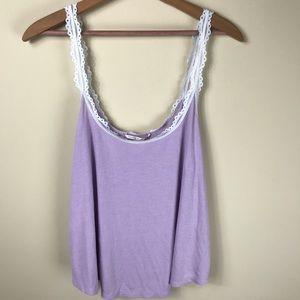 Victoria's Secret Lavender Pajama Top Size Large